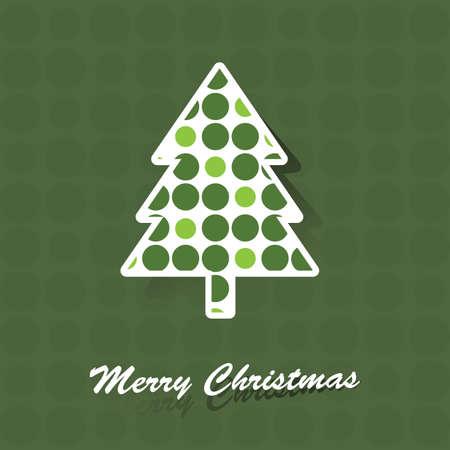 Christmas tree card Stock Vector - 10711388