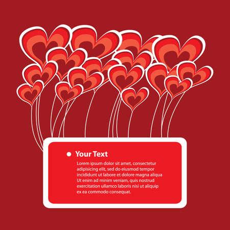 congratulatory: Congratulatory Card with Abstract Heart Vectors