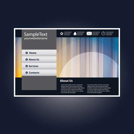 Website template in editable vector format Vector