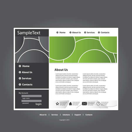 browse: Business website template in editable vector format