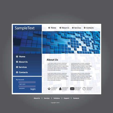 Business website template in editable vector format  Vector