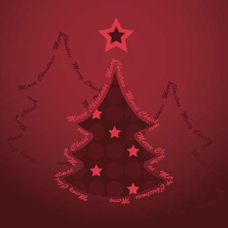 Christmas tree card Stock Vector - 10769771