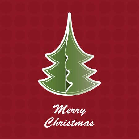 Christmas Tree Card Stock Vector - 10769773