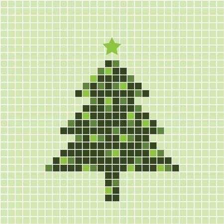 Christmas Tree Card Stock Vector - 10769770