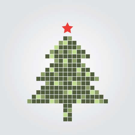 newyear card: Christmas Tree Card Illustration