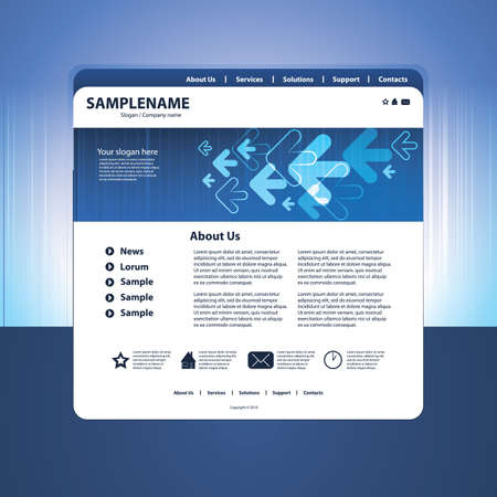Abstract business web site design template vector Stock Vector - 10825161