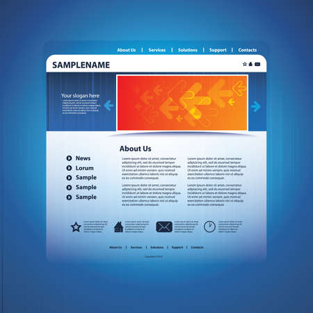 Abstract business web site design template vector Vector