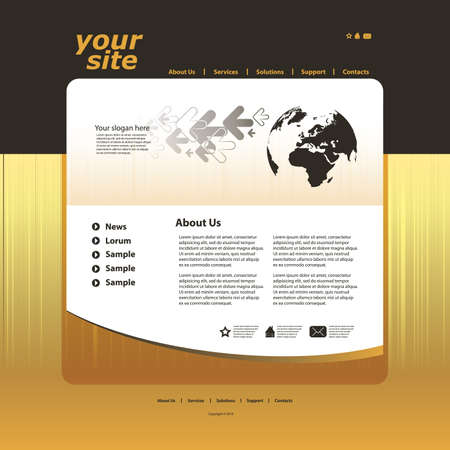 Abstract business web site design template vector Stock Vector - 10825163