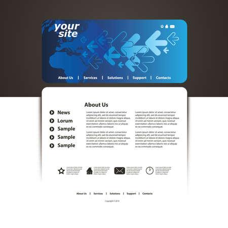 Astratto business web site design template vector