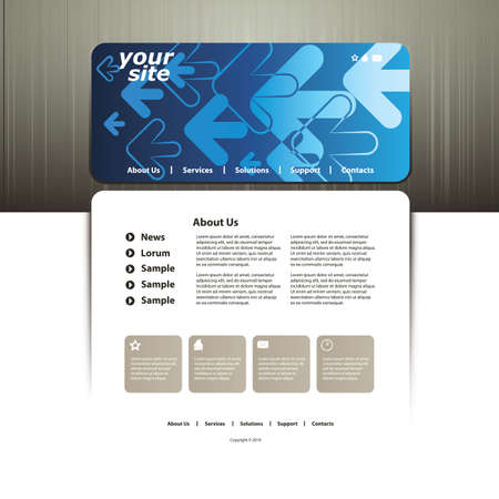 sidebar: Abstract business web site design template