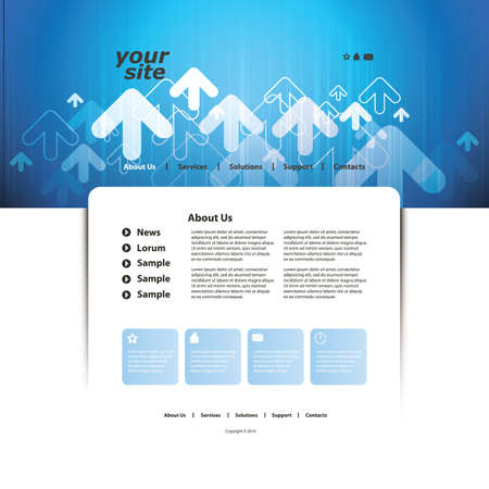 web pages: Abstract business web site design template