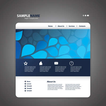 web site design template: Abstract business web site design template