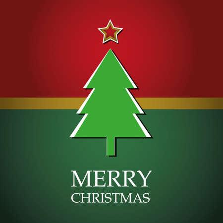 Christmas card template vector Stock Vector - 10890314