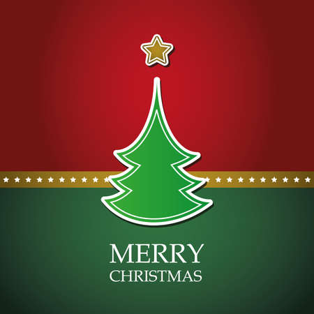 Christmas card template vector Vector
