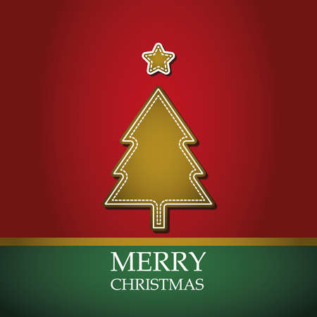 Christmas card template vector Vector