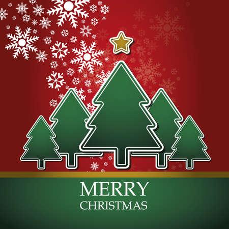 Christmas card template vector Stock Vector - 10890332