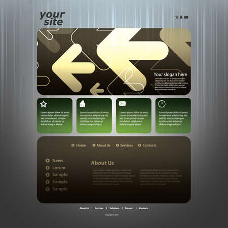 Abstract business web site design template  Stock Vector - 10922555