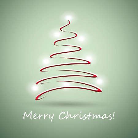 glisten: Рождественская елка изготовлена из красной ленты