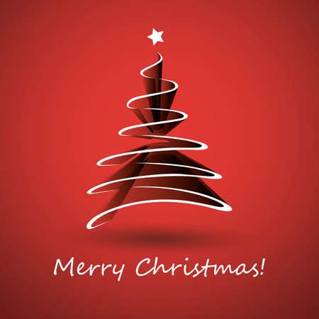 Weihnachtsbaum aus weißen Band gemacht