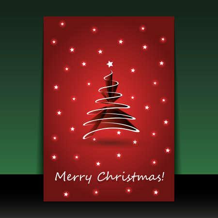 Weihnachten Flyer oder Cover-Design