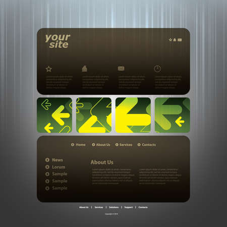 sidebar: Abstract business web site design template vector