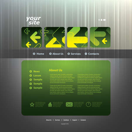 Abstract business web site design template vector Stock Vector - 10979559