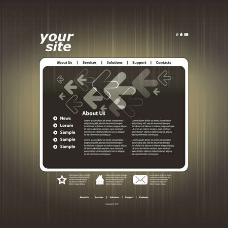 Abstract web site design template vector Stock Vector - 10979563