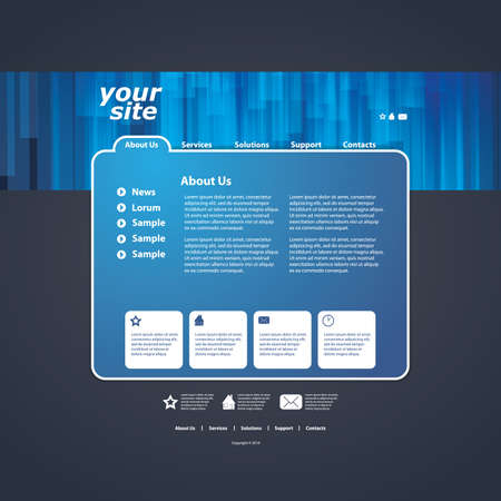 portfolio template: Abstract business web site design template vector