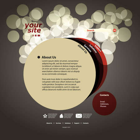 web site design template: Abstract web site design template vector