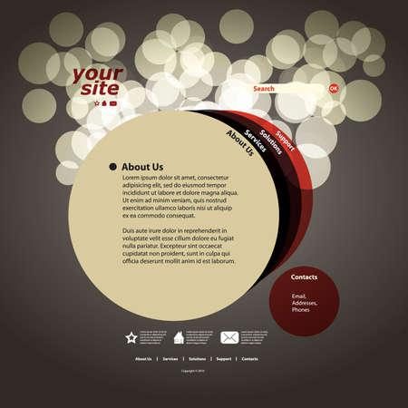 site web: Astratto sito web disegno vettoriale modello Vettoriali