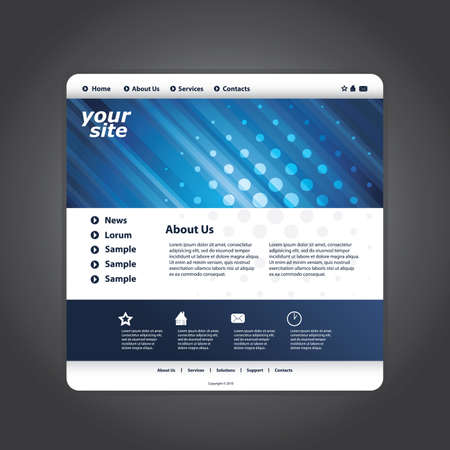 blog design: Abstract business web site design template vector