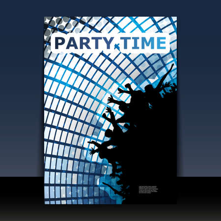 Flyer Design - Party Time Stock Vector - 11053659