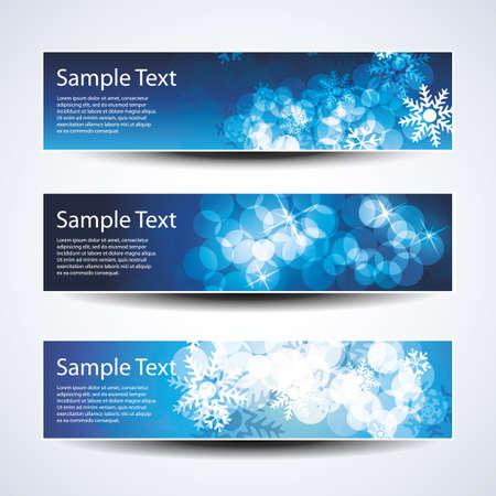 Set of horizontal Christmas, New Year banners Stock Vector - 11053673