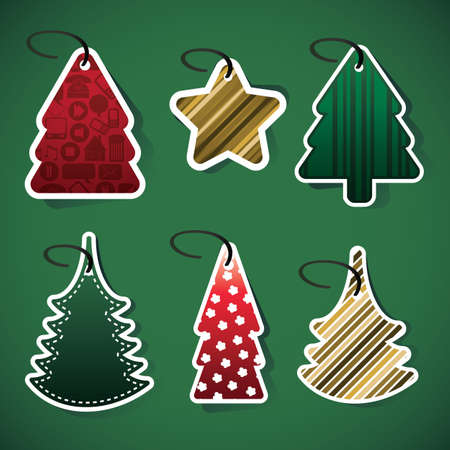 Christmas tree price tags Vector