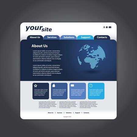 Business website template in editable vector format Stock Vector - 11019763