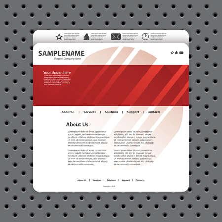 Website template Stock Vector - 11019761