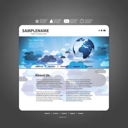 Vector sito web modello di progettazione