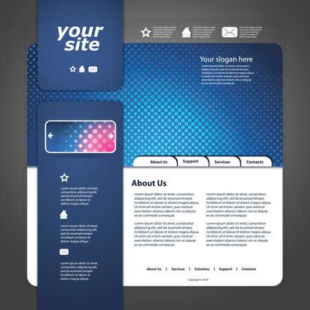 site web: Astratto business web site design template vettoriale