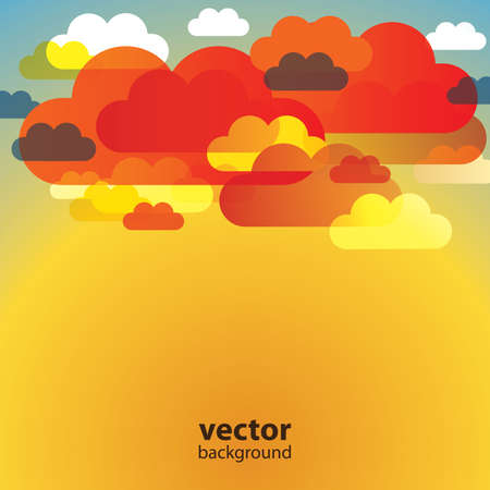 Abstract Cloud Background Vector Vector