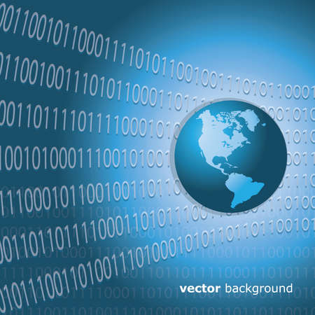 digital Numbers: Worldwide Information Background