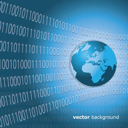 Worldwide Information Background Vector
