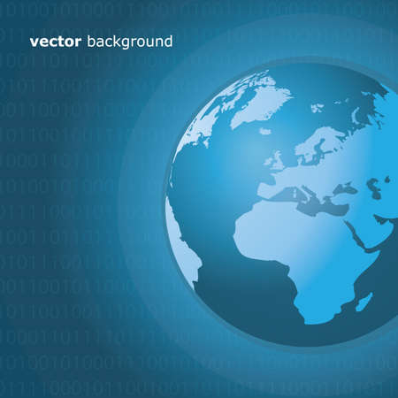 Worldwide Information Background Vector