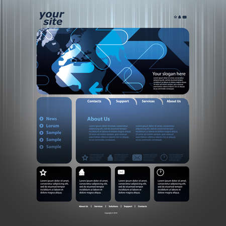 web site design: Abstract business web site design template vector