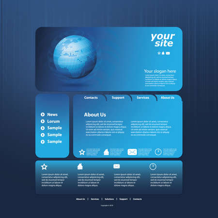 web site design template: Abstract business web site design template vector