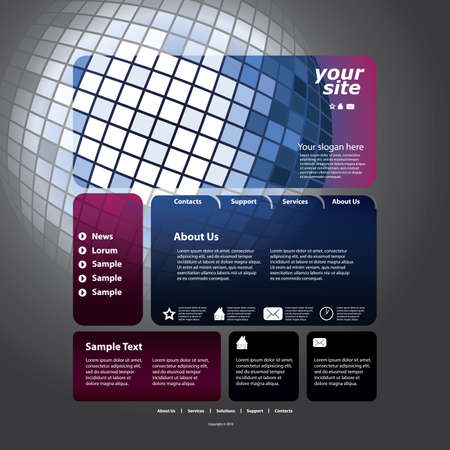 Abstract business web site design template Stock Vector - 11087566