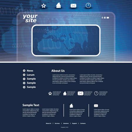 website layout: Website template Illustration