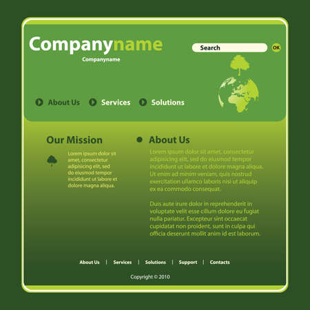 Website Template Vector Stock Vector - 11111528