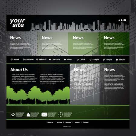 building a website: Website template Illustration