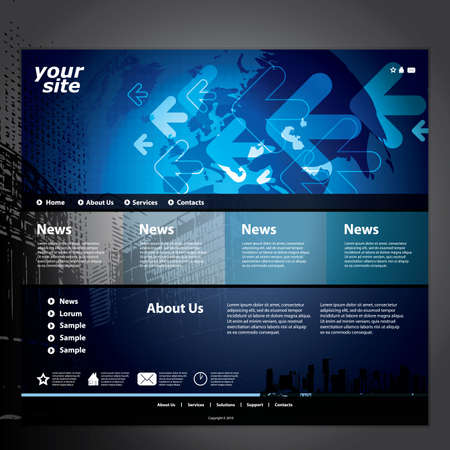 www concept: Website template Illustration