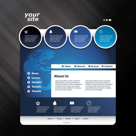 Website template Stock Vector - 11105680